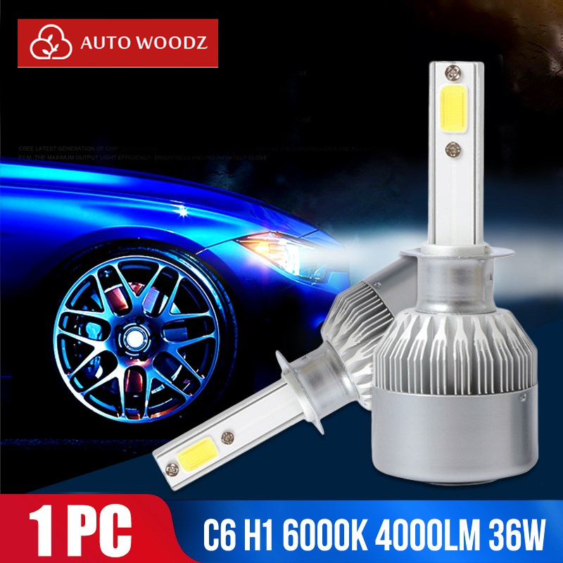 <font><b>C6</b></font> H7 <font><b>H1</b></font> DC12-24V Head light Front Lamp Replacement Car Styling Automobile High Power pare Bulbs Lighting Assembly <font><b>LED</b></font> <font><b>Headlight</b></font> image