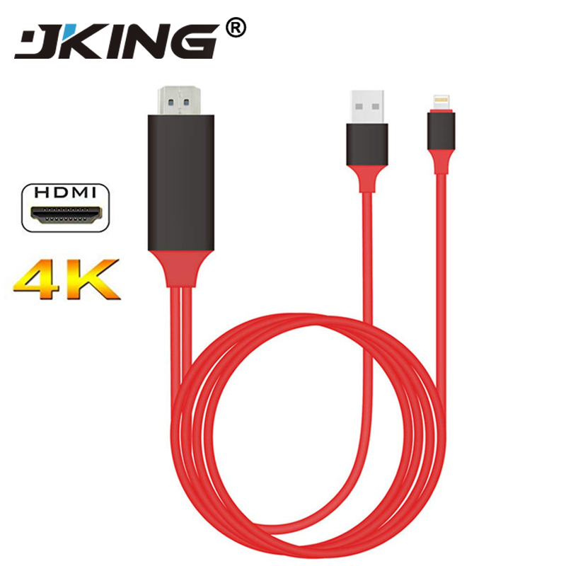 JKING TV Stick HDMI TV Cable for apple USB Screen Mirroring TV 1080P HD for  iphone 6s plus iphone7 7plus ipad|TV Stick| - AliExpress