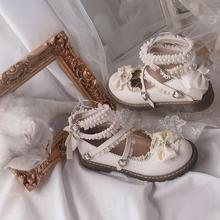 Hand Make Lolita Cosplay Pearl Shoes Platform Heel Lolita Shoes With Bow Princess Shoes Tb1010 girls pink lolita shoes cosplay shoes 5cm high heel pu bow pink shoes sy 2374
