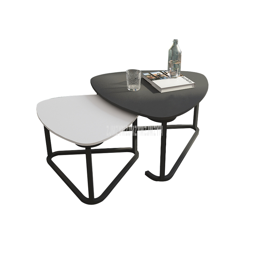 Nordic Tea Table Two Small Table Combination Simple Modern Living Room Luxury European Style Creative Toughened Glass Side Table