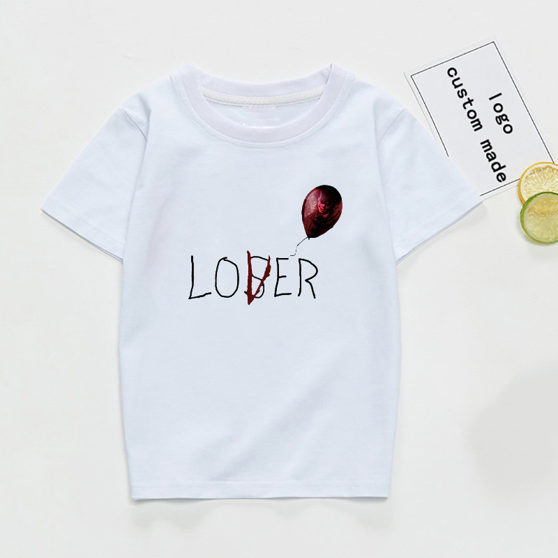 Girls Tshirt Clothing Loser Boys Kids Children Short-Sleeve White Cotton Autumn Tee-Top title=