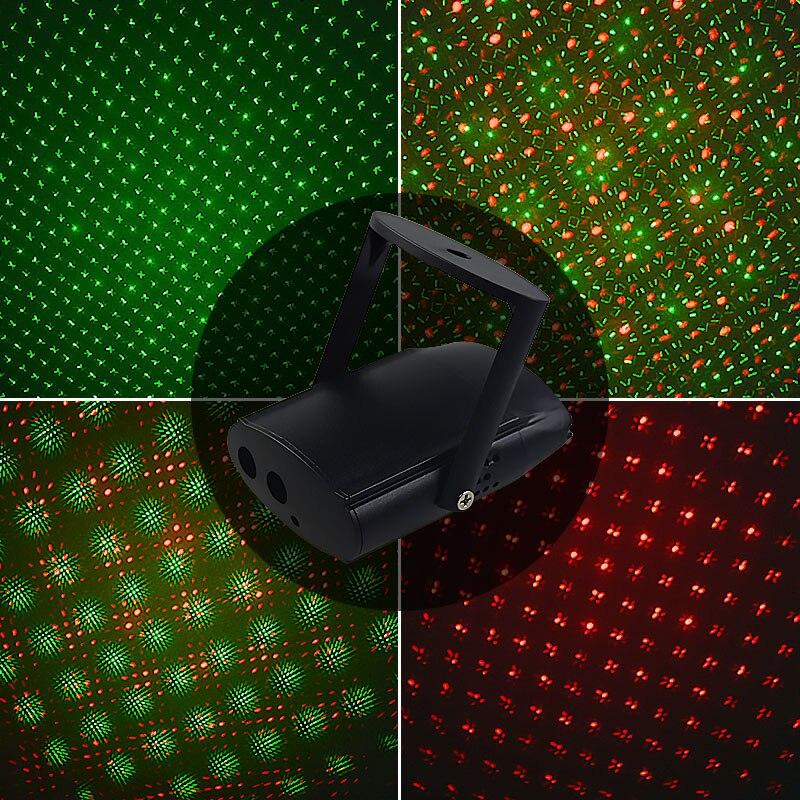 5V Mini éclairage de scène Laser Disco fête lumière KTV Club USB charge lumière bouton tactile interrupteur LED scène Laser lampe