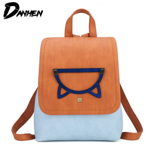 2019 Fashion Women Backpacks for School Teenagers Girls PU Leather Bags Mini Travel Backpack Laptop Bag with Cute Design недорго, оригинальная цена
