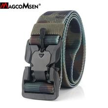 MAGCOMSEN Nylon ceintures tactiques hommes Multicam militaire robuste à dégagement rapide ceintures ceintures armée Airsoft engrenages Paintball