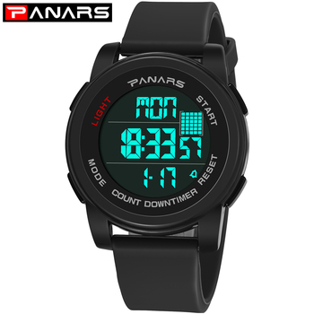 PANARS sportowy zegarek noktowizyjny wyświetlacz LED wodoodporny cyfrowy nadgarstek Watche elektroniczny zegarek studenci wielofunkcyjny zegarek tanie i dobre opinie Zegarek typu stainless steel Wyświetlanie czasu 50mm*17mm 8100 HIKE