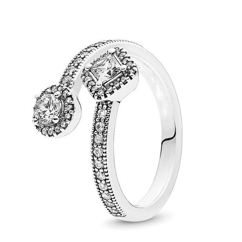 Кольцо на палец в форме сердечко серебряного цвета для женщин, европейская оригинальная Корона, изящные кольца на палец, свадебные украшения, 50 стилей, Прямая поставка - Цвет основного камня: Rings 037