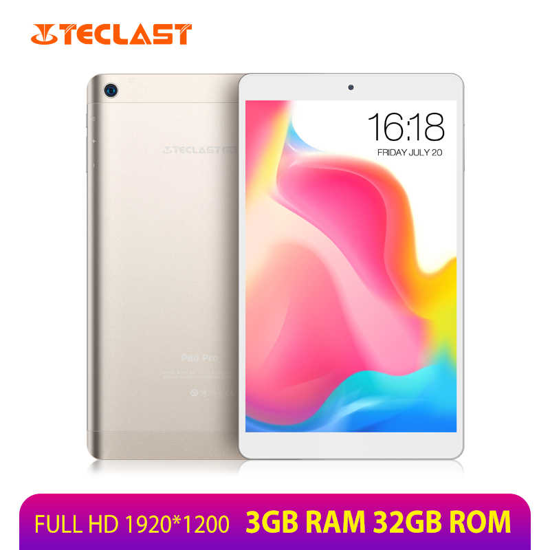 Teclast P80 Pro Tablet 8 Inci 1920*1200 3GB RAM 32GB ROM MTK8163 Quad Core Android 7.0 tablet PC GPS Dual WIFI Dual Kamera