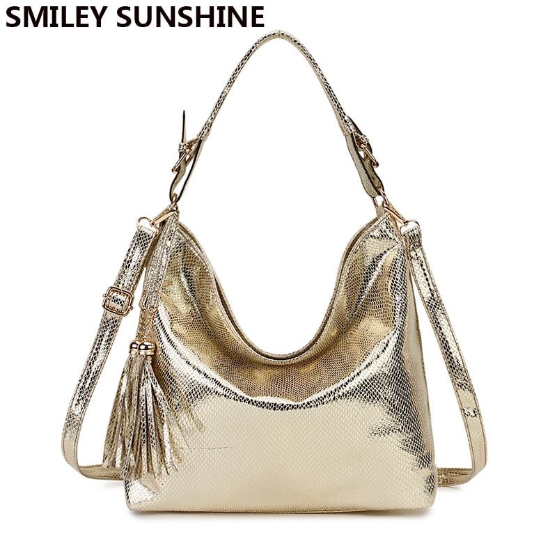 Gold Fashion Women Leather Handbags Female Shoulder Bag Ladies Hand Bags Purses and Handbags Gold Crossbody Bag for Women 2019