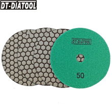 DT-DIATOOL 4pcs 125mm/5 Diamond Dry Polishing Pads Resin Bond Flexible Sanding Discs For Granite Marble Stone Polisher Discs dt diatool 7pcs 100mm 4inch grade a dry diamond polishing pads resin bond sanding discs for marble granite stone polisher discs
