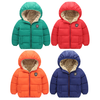Winter Kids Hooded Jackets Boys Girls Thicken Warm Jacket Outerwear Fashion Baby Boy Zipper Cotton Velvet Jacket For Kids Coats children winter jacket kids winter jackets thicken warm cotton corduroy girls winter coat detachable collar hooded kids outwear