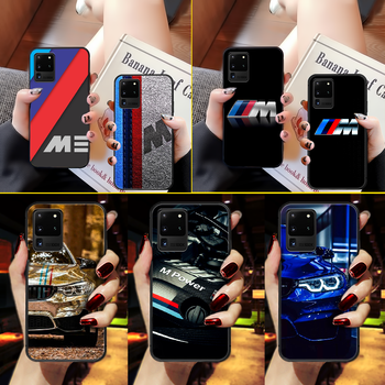 BMW M car Phone Case Cover Hull For Samsung Galaxy S 6 7 8 9 10 e 20 edge uitra Note 8 9 10 plus black back 3D Etui luxury image