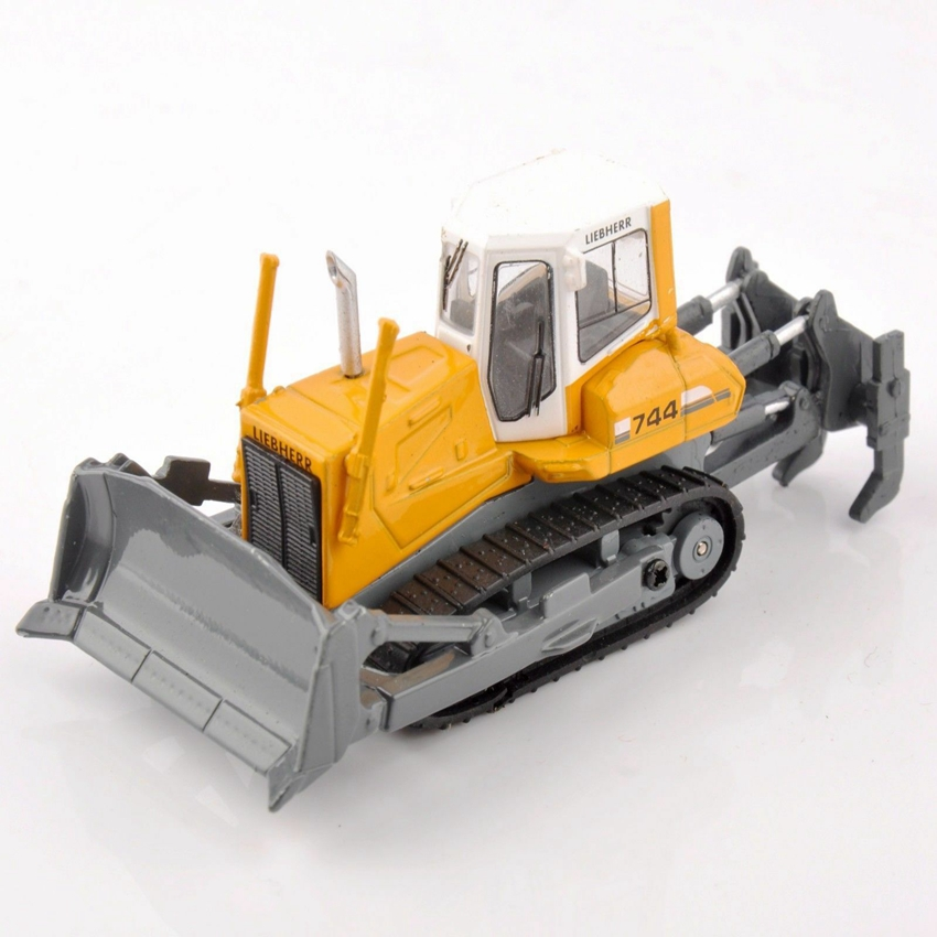 1/87 Liebherr PR 744 Crawler Tractor Engineering Vehicle Truck Model Diecast Toy Yellow Alloy Gift