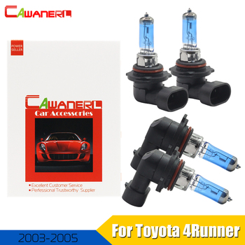 Cawanerl For Toyota 4Runner 2003-2005 9005 + 9006 100W Car Light Halogen Lamp Headlight 4300K Warm White 12V 4 Pieces image