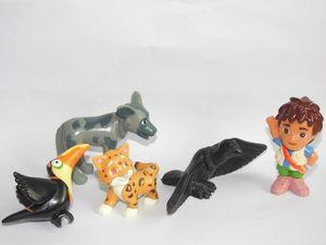 "Image 5 - GO,Diego,GO 5pcs and 6pcs Dora The Explorer US Original Order Children Toys Dora Diego and Animals Dolls 5cm 2"""
