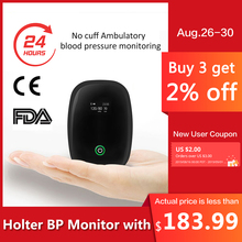New Comfortable 24 hours Real-time dynamic NO cuff Blood Pressure Monitor Holter pulse wave Holter BP Monitor with APP FDA510k цена 2017