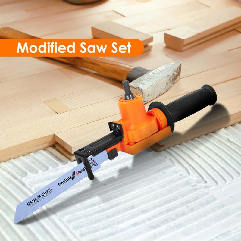 Multi-functional Reciprocating Saw Electric Drill Attachment Woodworking Tool Within 100mm Fast Linear Cutting Of Metal