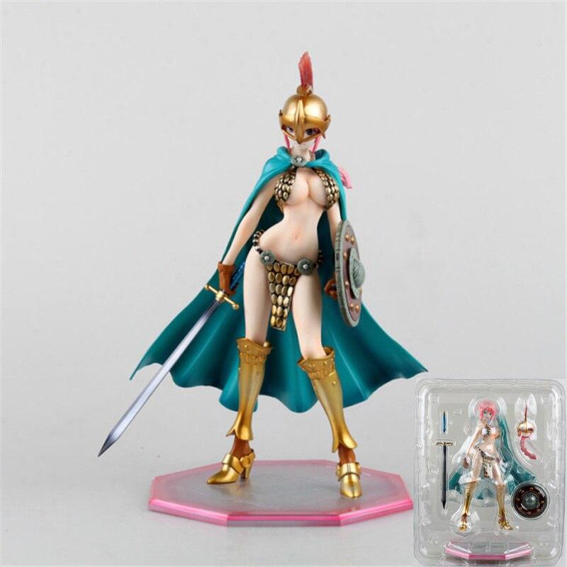 23cm anime une pièce figure épée combattant Rebecca chiffres changer visage déshabillé sexy filles Action Figure poupée PVC modèle jouet cadeau