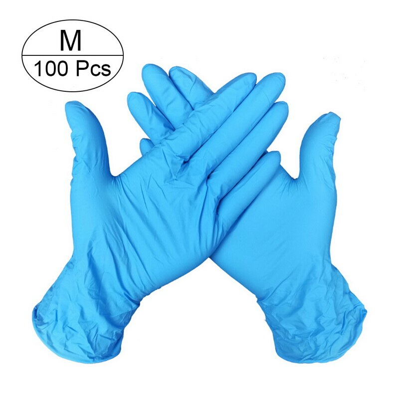 100 PCS Disposable Nitrile Gloves and Multi Purpose Latex Gloves for Virus and Flu Protection 34