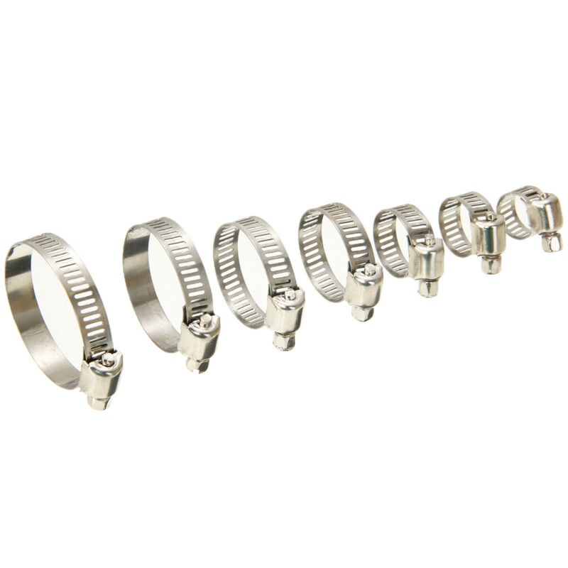 Car Hose Pipe Hoop Clamps Wire Assorted Kit With Box Stainless Steel Supplies|Hoses & Clamps| |  - title=