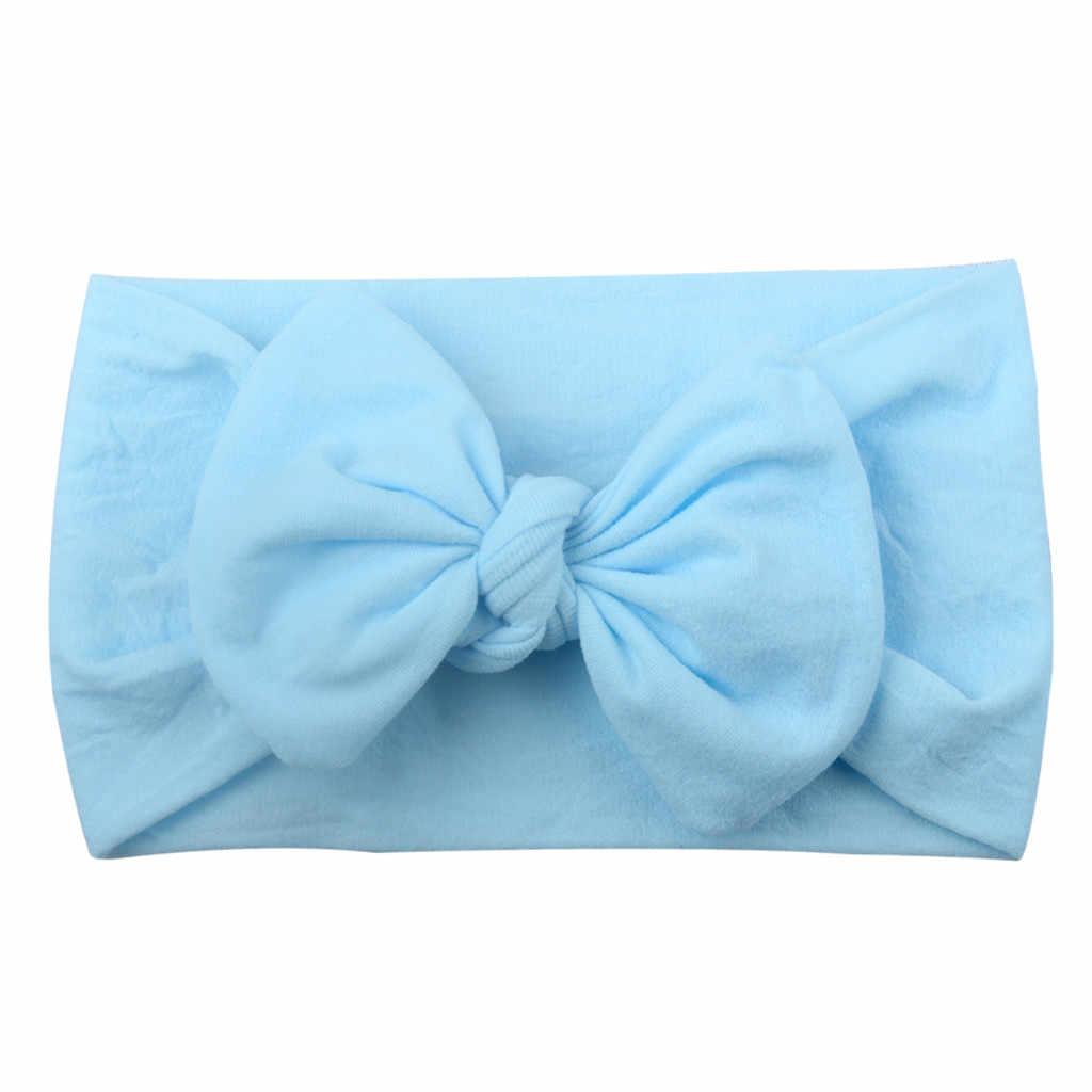 2019 Gloednieuwe Pasgeboren Peuter Baby Meisjes Hoofd Wrap Konijn Grote Boog Knot Tulband Hoofdband Haar Accessoires Baby Geschenken voor 0-2Y