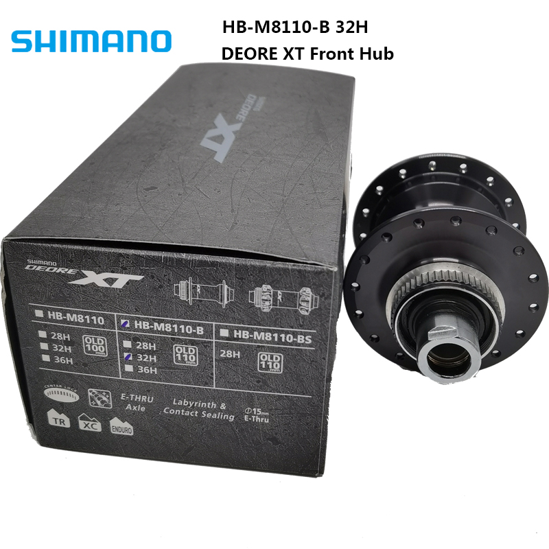 SHIMANO DEORE XT HB-M8110-B Front Hub 32H 12 Speed MTB Bike Bicycle Front Rear Hub Quick Release 32H Center Lock
