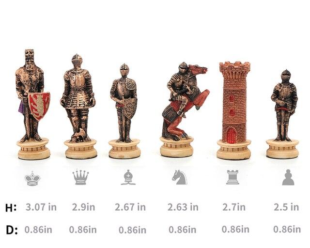 Jeu d'échecs moyen âge  thème chevalier bataille médievale 3
