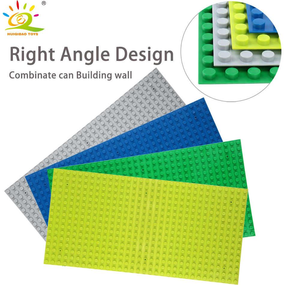 צעצועי 1pcs Duplo 4 צבעים 32*16 נקודות ימין זווית Baseplates לוח גדול גודל בית אבני בניין רכבת לבנים לילדים
