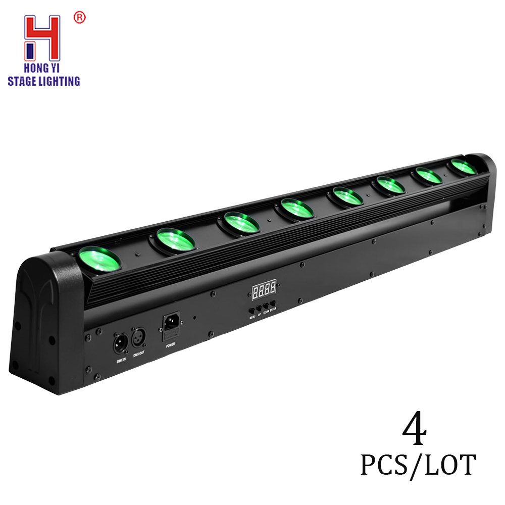 Stage Light Moving Head Beam LED 8x12W Strobe Light RGBW 4in1 DMX 10/38 Channel Beam LED For Party Disco Bar DJ Light (4pcs/lot)