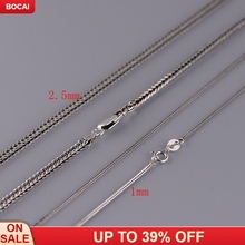S925 silver chain necklace chain of Chopin's bold foxtail chain Thai silver wholesale style restoring ancient ways thai silver necklace hand chain s925 sterling silver men clavicle necklace authentic wholesale