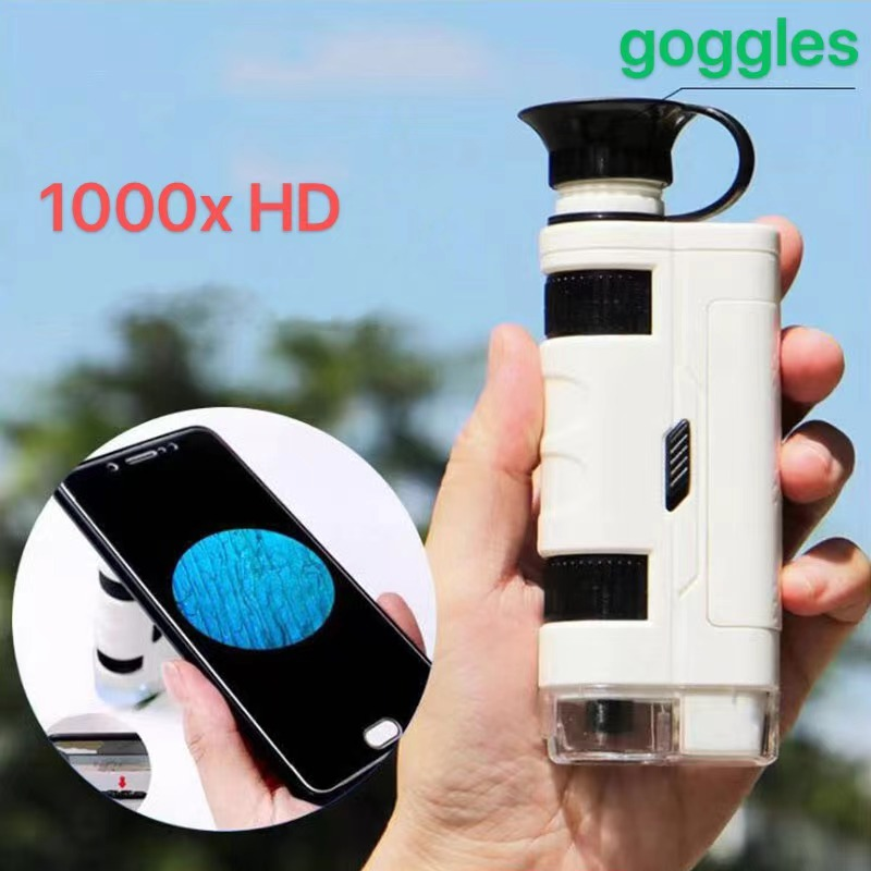 High-definition 1000 times portable multifunctional microscope, suitable for children's scientific observation toys