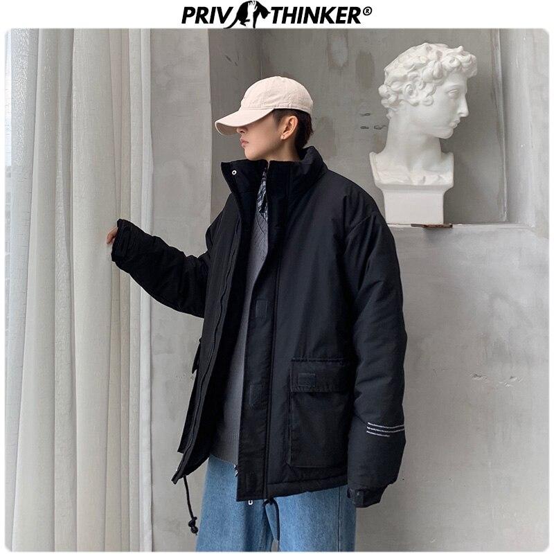 Privathinker hommes femme Safari Style poches Parkas vestes mâle épaississement chaud Hip Hop Streetwear manteau veste hommes hiver Parka