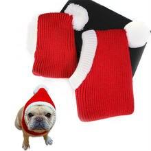 Милая шапка для собак зимняя теплая домашних животных Хэллоуин