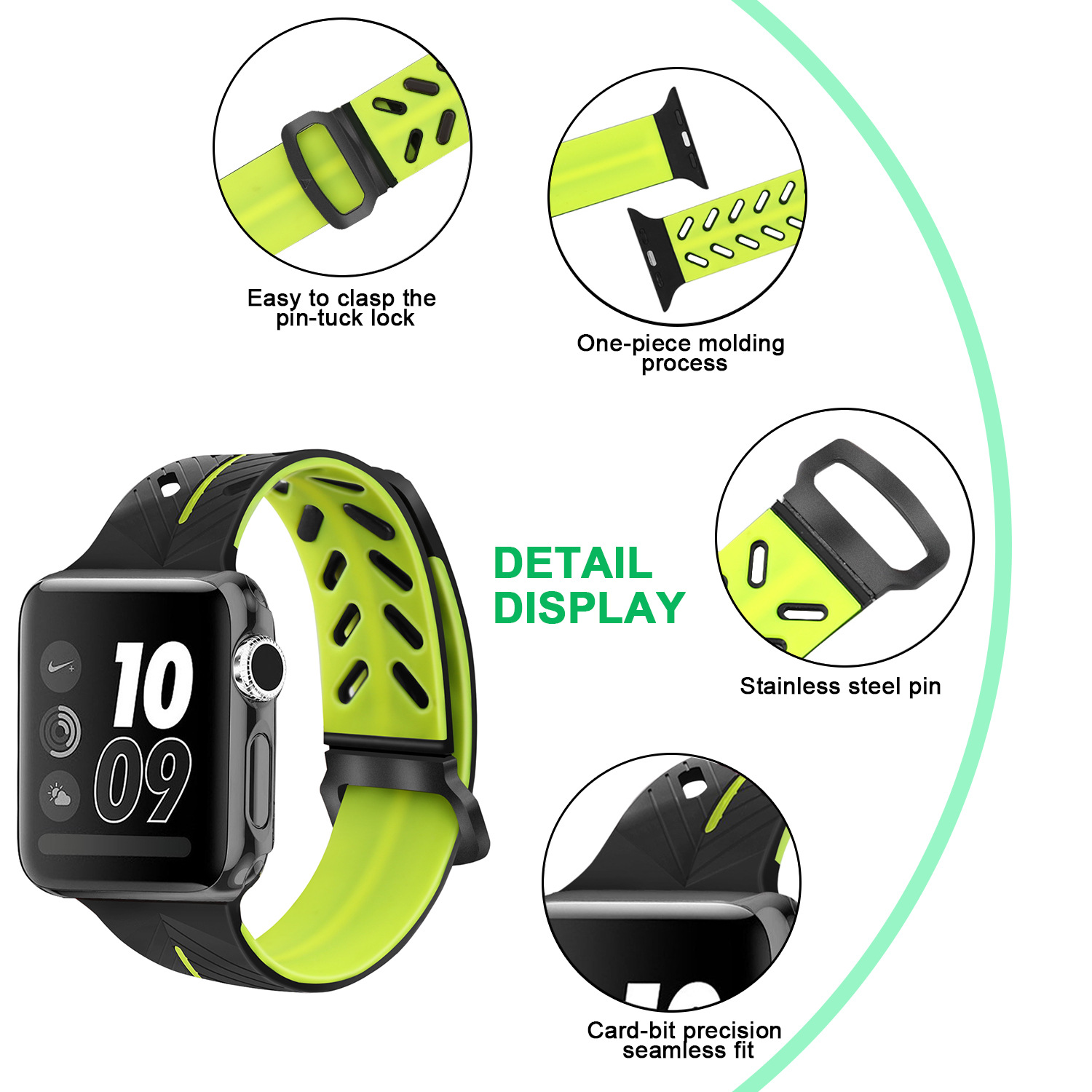 Applicable APPLE IWatch Apple Watch Strap TPU Silicone Watch Strap Double Color Watch Strap Watch New Style