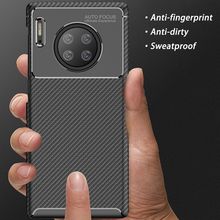 Luxury For Huawei Mate 30 Pro Case Soft silicone TPU Carbon fiber Back Cover Shockproof Case For Huawei Mate 30 Case cover case for huawei mate 10 pro soft carbon fiber luxury tpu