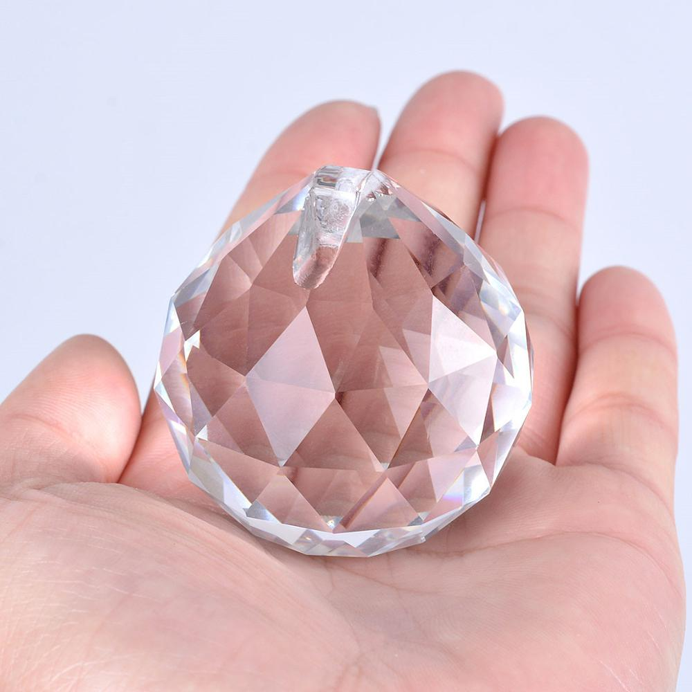 5/10pcs Clear30# Feng Shui Faceted Decorating Crystal Ball Prisms Crystal Chandelier Lamp Parts Suncatcher For Window