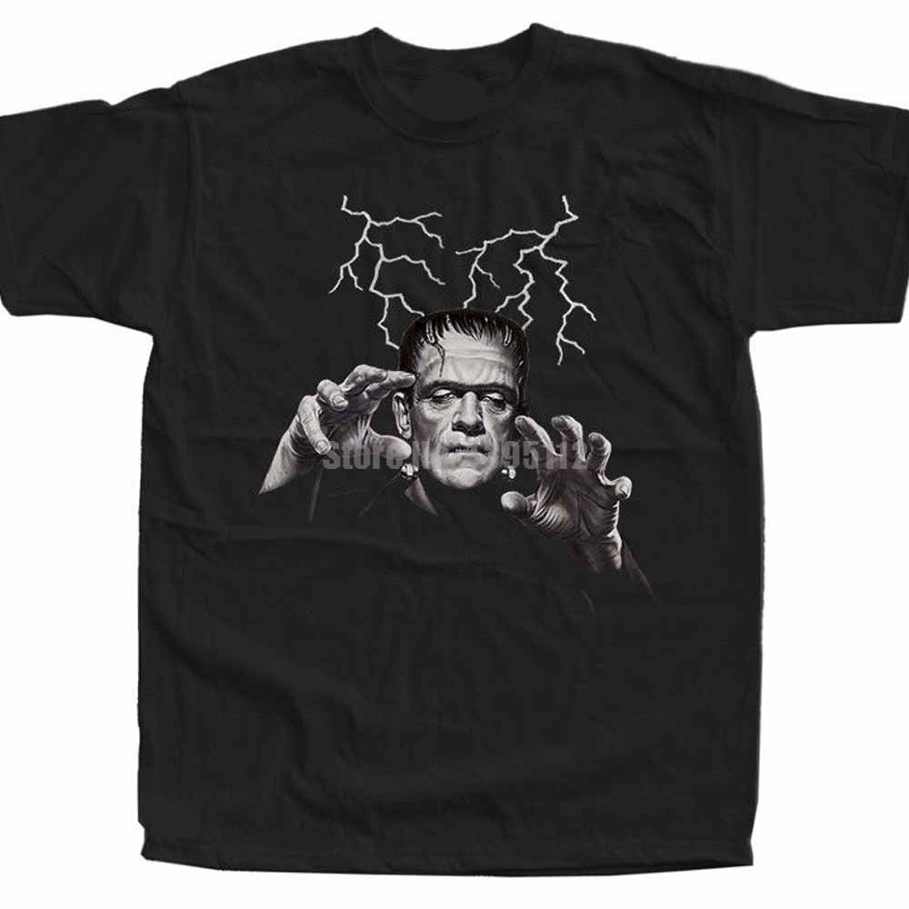 Frankenstein Movie Poster Man Band Shirts Likee Shirts Mens Casual Shirt Shih Tzu Tshirts Fire Brigade Uvxizq image