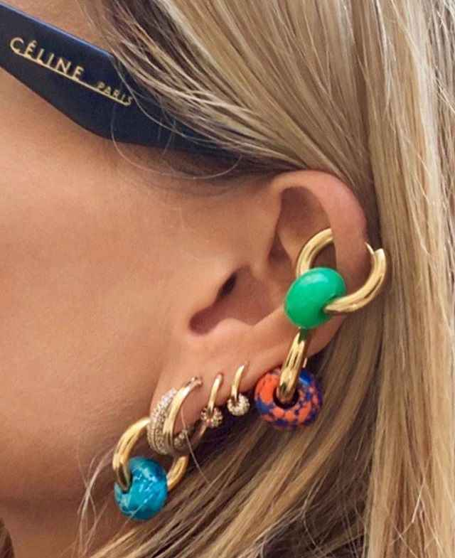 Jewelry Wholesale bohemian summer Ear Accessories Fashion Earrings for Women Natural Beads Stone Dangle Lady Earrings Jewelry