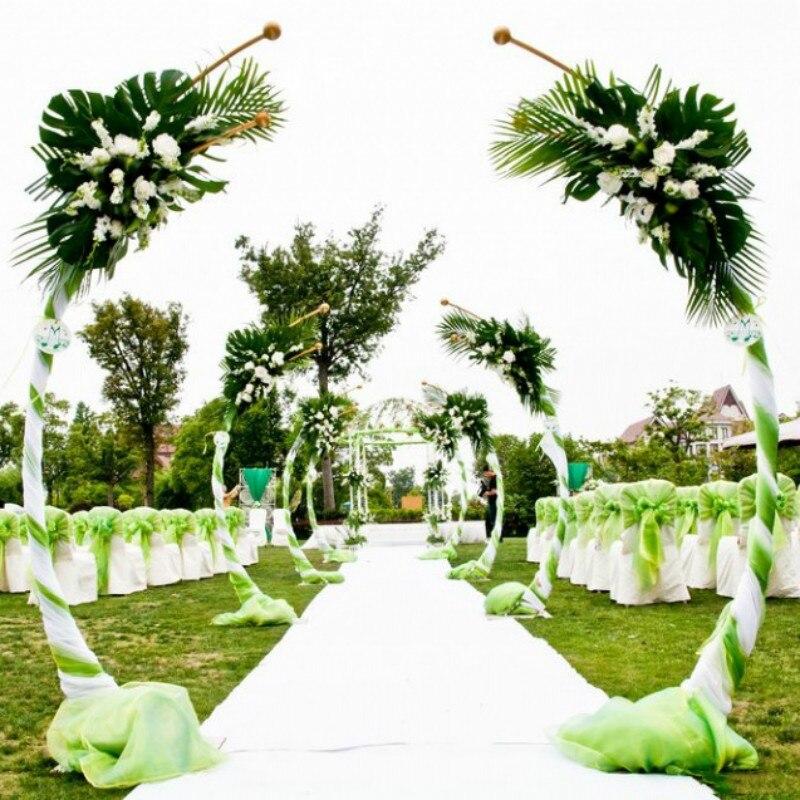 Customized DIY Wedding Decor Wrought Iron Ring Arch Background Arc Shape Arch Door Outdoor Lawn Silk Flower Door Shelf Stand