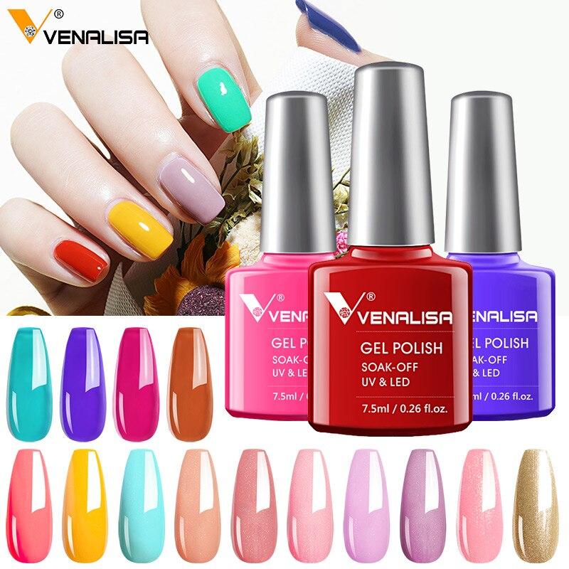 Newest Nail Art Design Manicure Venalisa 60 Summer Color Soak Off Nail Enamel GEL Polish UV Gel Nail Polish Lacquer Varnish Nail