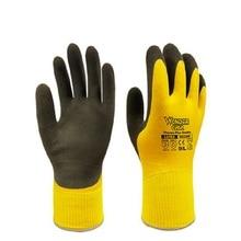 1 זוג קריוגני עבודה כפפות מים הוכחה לטקס נגד כוויות קור בטמפרטורה נמוכה עבודה סביבות קר אחסון לשאת