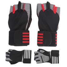 Weight Lifting Half Finger Fitness Gloves Adjustable Cycling Protective Gloves Anti-Slip Breathable Bicycle Riding Sports Gloves