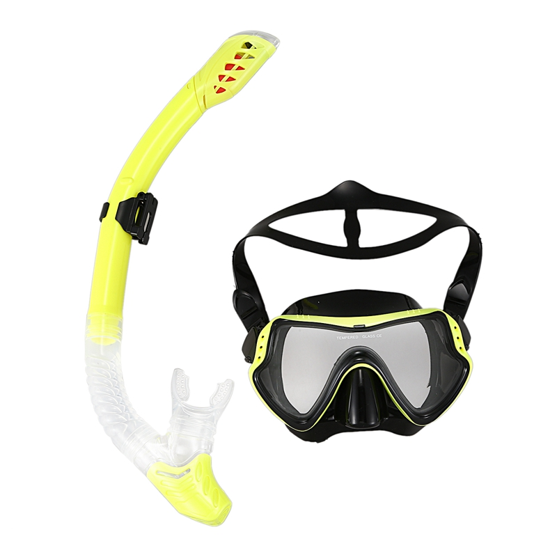 New Professional Diving Goggles Men And Women Swim Snorkel Tube Adults Scuba Monofin Snorkeling Swimming Glasses Diving Mask Set