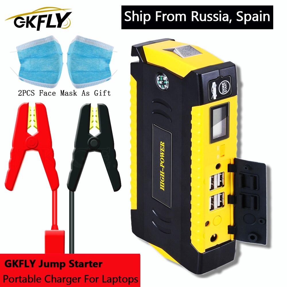 Пускозарядное устройство GKFLY для автомобиля, портативный пусковой пауэрбанк, 12 В, 600 А, для дизельных и бензиновых автомобилей title=