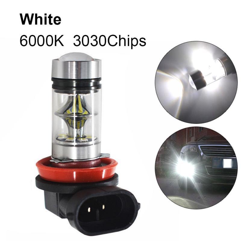 12V 1800Lm Car Lights H8 H11 LED Super White Car Fog Lamp Driving Bulb DRL Daytime Running Light Bulb Turning Parking Bulb 2323