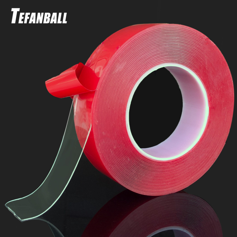 Купить 5 см x 1000 прозрачная силиконовая двусторонняя клейкая лента