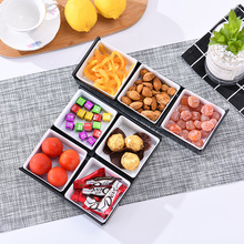Multi Grid Fruit Snack Storage Tray Dessert Plate Serving Platter Snack Small Dish with Tray Party Home Desktop Trays Decorative cozulma women candy color breathable canvas shoes lace up fashion sneakers female non slip casual shoes size 35 40