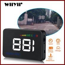 GEYIREN 2018 A500 HUD Display Auto Überdrehzahl Alarm Wasser Temperatur Alarm OBDII oder EU OBD interface Reflektierende Film Auto-styling