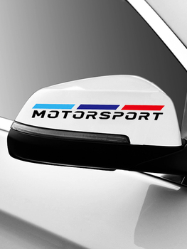 M Motorsport Power Performance car rearview mirror Car sticker car decal for BMW e90 e46 f10 f30 g20 g38 x1 x3 x5 x6 3 5 series image