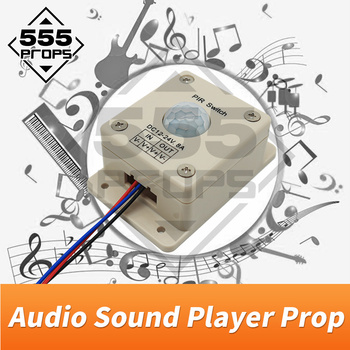 555 props Audio sound player prop escape room game prop play sound when detect human play audio music to create atmosphere