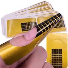 10-100 шт профессиональные французские кончики для маникюра, акриловые кончики для ногтей, гелевые наклейки для наращивания ногтей, форма для локонов, руководство для маникюра